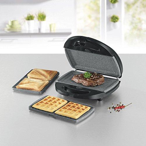 gourmetmaxx 00925 tischgrill waffeleisen sandwich maker in einem inkl 3 auswechselbarer. Black Bedroom Furniture Sets. Home Design Ideas