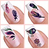 Selbstklebend Nail Art-Sticker–Feather & Bird Collection (01.005, 059, 063, 084)