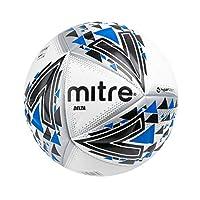 Mitre Unisex Delta Professional Football, White/Black/Blue, Size 5