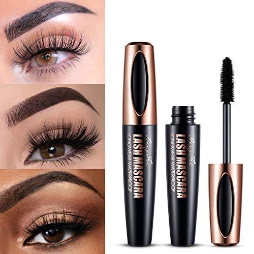 Schwarze Mascara, wasserfeste, lang anhaltende Make-up-Mascara, geeignet für empfindliche Augen 10ml -