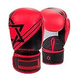 Galopar Boxhandschuh, Essential Boxing Kickboxen Muay Thai Trainingshandschuhe Gel Sparring Boxsack Handschuhe (Red)