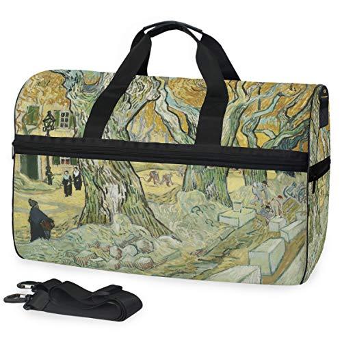 Montoj Van Gogh Road Herren Gepäck Sportliche Gear Bag One Size Reisetasche Duffle Bag mit verstellbarem Riemen -
