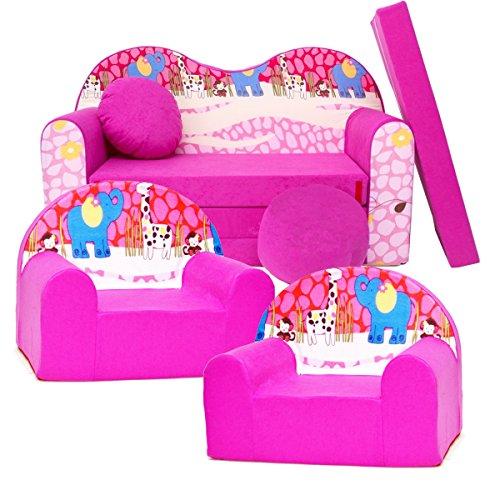 Barabike H16 kit de Lot, Mini pour Enfants, bébé Lot de 3 pour Enfants Canapé + 2 Fauteuil pour Enfant