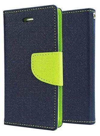 SDO Diary Wallet Style Mercury Flip Cover Case for Moto G4 Plus (Blue)