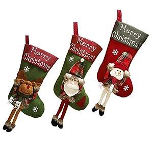 Shanke 3pcs Calcetines de Navidad