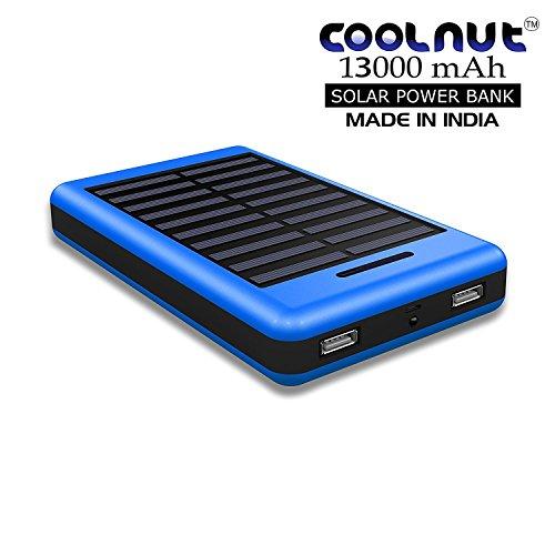 COOLNUT Solar Power Bank 13000mAh