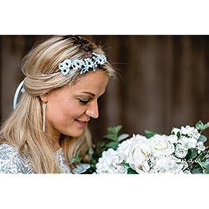 Brauthaarband Blumenkranz Blüten Diadem Braut Frisur Hochzeit Boho C9