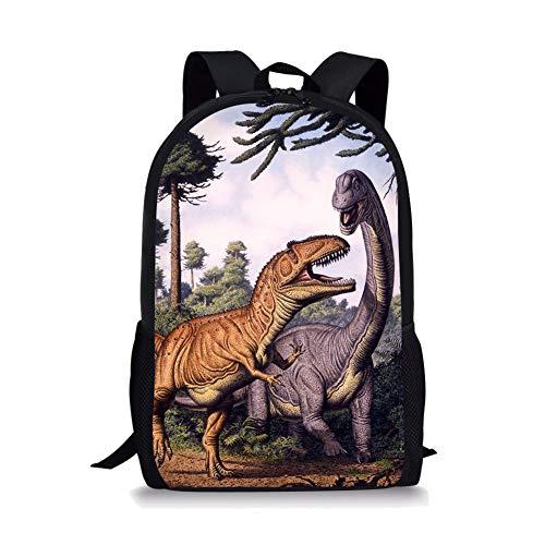 chule Tasche Dinosaurier-Nette Kinder Durable Personalisierte Rucksack Bookbags anystropheus and Tyrannosaurus Rex ()