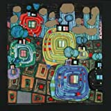 Hundertwasser Poster Kunstdruck Bild - Pavilions und Bungalows - 48x48cm - kostenloser Versand