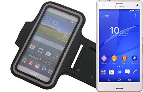 Coloque brazal del neopreno Jogging Caso / brazal de los deportes / Case Deporte / Deporte Alto Brazalete / a Sony Xperia Z3 Compact en negro. Universal aptitud de Apple para el uso al aire libre del Sony Xperia Z3 Compact. A través de la entrada para los auriculares / auriculares también se puede escuchar música mientras hace ejercicio con su Sony Xperia Z3 Compact. En el compartimiento clave práctica ***** => Artículo DISPONIBLE de K-S-comercio! Pulse el botón amarillo para comprar =>