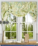 Best Home Fashion Valances - Ellis Curtain Terlina 50-by-21 Inch Lined Tie-Up Valance Review