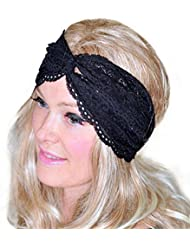 Yogogo Femmes Fille Couvre-chef Mode Yoga Twist Sport Lace Bandeau Turban Head Scarf Wrap