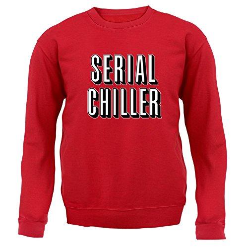 Serial Chiller - Kinder Pullover/Sweatshirt - Rot - XL (9-11 Jahre) (Netflix Und Chill Halloween Kostüm)