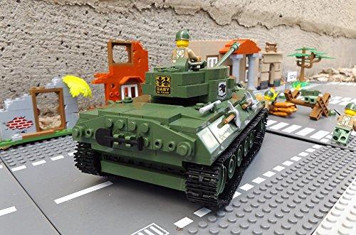 ★ World of Tanks 3006 – Bausteine US ARMY Panzer, 465 Teile, leichter Jagdpanzer M18 Hellcat, inkl. custom US ARMY Soldaten aus original Lego© Teilen ★ - 3