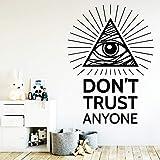 Diy Trust cita impermeable pegatinas de pared arte de la pared decoración para niños sala de estar decoración de la casa etiqueta de arte 57 cm x 79 cm