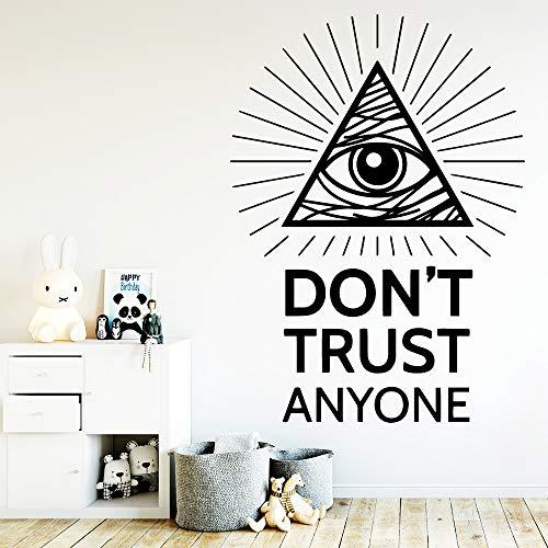 Diy Trust Citazione Impermeabile Adesivi murali Decorazione di arte della parete Per i bambini Soggiorno Decorazione della casa Art Sticker 84 centimetri X 116 centimetri