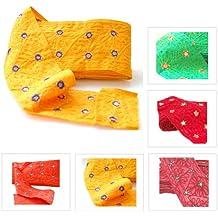 Neotrims única edición limitada vibrante indio bordado frontera; Tejido de Sari de algodón y Salwar indio espejo adornado hecho a mano cinta Recorte Por El Patio en un gran precio, Scarlet Vivid, 1 metro