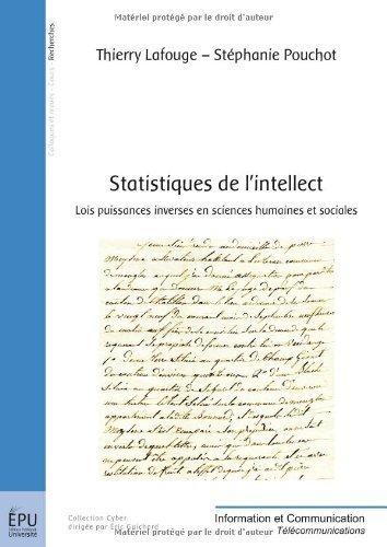 Statistiques de l'intellect de Thierry Lafouge Stphanie Pouchot (26 novembre 2012) Broch