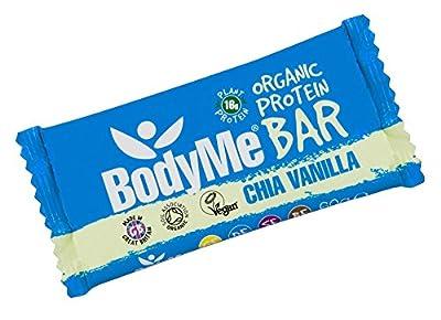 BodyMe Organic Vegan Protein Bar | Raw Chia Vanilla | 60g | With 3 Plant Proteins