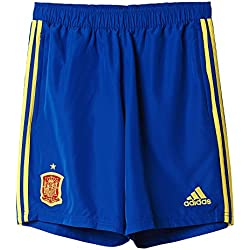 adidas Federación Española de fútbol Euro 2016 - Pantalón corto de entrenamiento, color azul / amarillo, talla 2XL