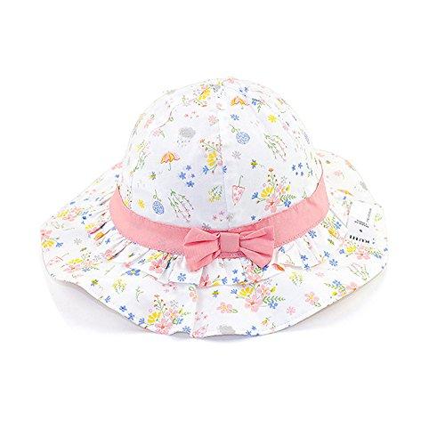 iisport iisport Mädchen Sonnenhut, Baby Kinder Sonnenhut Atmungsaktiv Sommermütze mit UV Schutz, 3Monate - 6Jahre