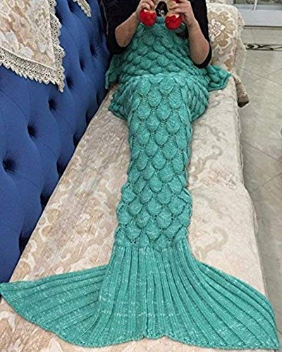 Coperta mermaid per bambini ,a coda a forma di sirena, coperta per divano letto, soggiorno con sirenetta, 140*70cm