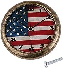 Anbau Classic Clock Door Drawer Bin Pull Knob Closet Wardrobe Handle American Flag