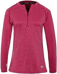 T-shirt de course thermique léger à col rond avec fermeture Éclair pour femme Time to un