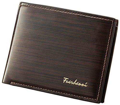 Herren Leder Mappen/ Geldbörse Kurzschluss-Art Viele Taschen für Karte / Geld kaffee