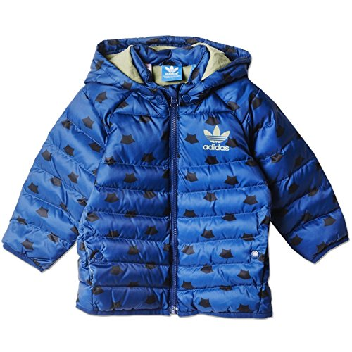 adidas i MF midsjacket – Anorak pour Enfant, Bleu/Noir/Argent, Taille 86