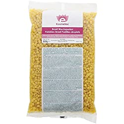 Premium Niedrigtemp-Heißwachs, Intime und Achseln. Benutzung Ohne Vliesstreifen. Mikrowelle geeignet Wachs Perlen Honig, 800g