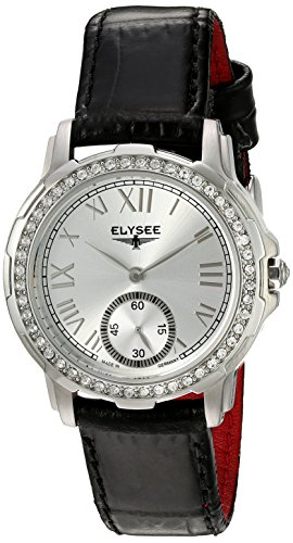 ELYSEE Women's 22003 Ladies-Edition Analog Display Quartz Black Watch