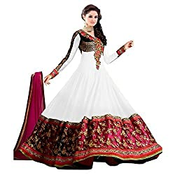 Fashion Dream Women's Georgette Dress (!!#Sainx White_White_Free Size)