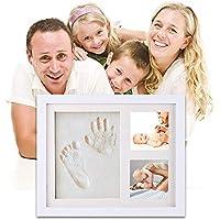 Kit de marco de huella de las mano y de los pies de bebé | el mejor regalo marco memorable del recién nacido, regalo de bebé Recuerdos memorables Decoraciones para pared de la habitación …