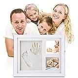 Kit de marco de huella de las mano y de los pies de bebé   el mejor regalo marco memorable del recién nacido, regalo de bebé Recuerdos memorables Decoraciones para pared de la habitación