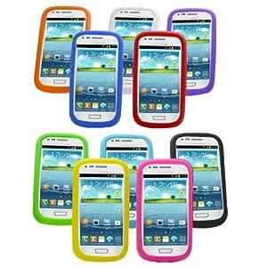 BestCool 10x Colorful Gel protecteur de caisse de silicone pour Samsung i8190 Galaxy S3 Mini Sleeve Case Bag Housse de protection Case