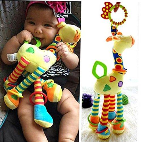 Preisvergleich Produktbild Lalang Baby Plüschtiere, Kleinkindspielzeug,Beschwichtigen Schlaf Spielzeug,Kinderwagen, der Spielzeugauto-Drehmaschine hängenden Baby Rasseln,Farbige Klein Hirsch