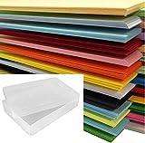 DIN A4-Papier, farbig, 500Blatt in einer durchsichtigen Kunststoff-Aufbewahrungsbox von Weston -25x verschiedene Farben
