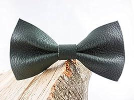 Grüne Leder Fliege