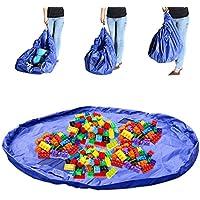 Toy Storage Bag, rusee di giocattolo Borsa Organizer Kid Play Mat Lego portatile organizzare Picnic (Bambini Bin Organizer)