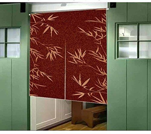 Vorhänge Pflanzen Bambus Vorhang Sonne Wind Schiebegardine Eingang Schrank Dekorativ Non-Teleskopstange,D-85*120CM