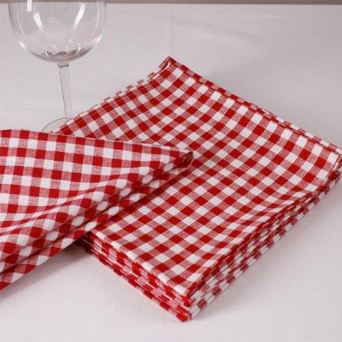 Cuadros Servilletas, 1x 1cm, algodón, muchos colores y Tamaños, durchgewebt, cuadriculado, tejida,...