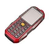 QHJ Dual Sim Outdoor Handy(6800mAh),IP68 Wasserdicht,Stoßfest, Rugged Handy Ohne Vertrag mit Lautem Lautsprecher (Rot)