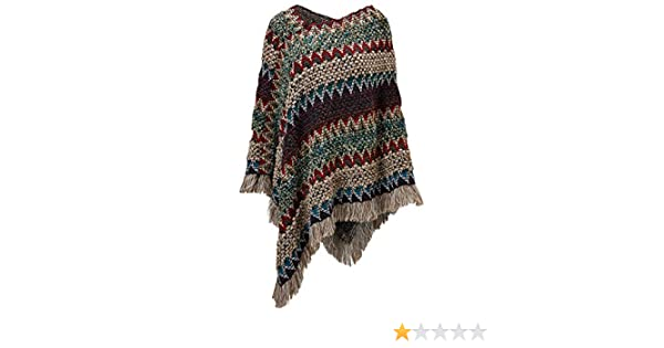 Joe Browns Womens Floral Corsage Poncho with Tassels Purple One Size