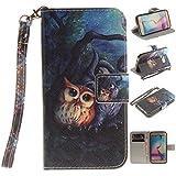 Nancen Samsung Galaxy S6 Edge / G9250 (5,1 Zoll) Handytasche/Handyhülle. Flip Etui Wallet Case in Bookstyle - Premium PU Lederhülle Hülle Cover Mit Lanyard/Strap, Standfunktion