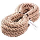 25m 30mm -- JUTESEIL Naturfasern gedreht Tauwerk Hanf Jute Tau Seil Tauziehen Absperrseil Handlauf