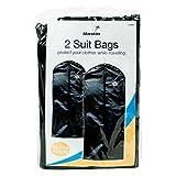 Invero® Pack of 2 Garment Suit Covers Clothes Dress Coat Bag Protectors ideal for Travelling 58cm x 100cm - Invero® - amazon.co.uk