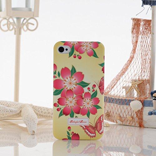 iPhone Case Cover Peinture couleur petites fleurs en plastique dur cas de couverture d'iPhone 4S Pour 4 ( Color : 9 ) 12