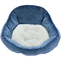 GCHOME Cama de Perro Cama para Mascotas Stripe Fabric Caseta de Perro Four Seasons Universal Soft