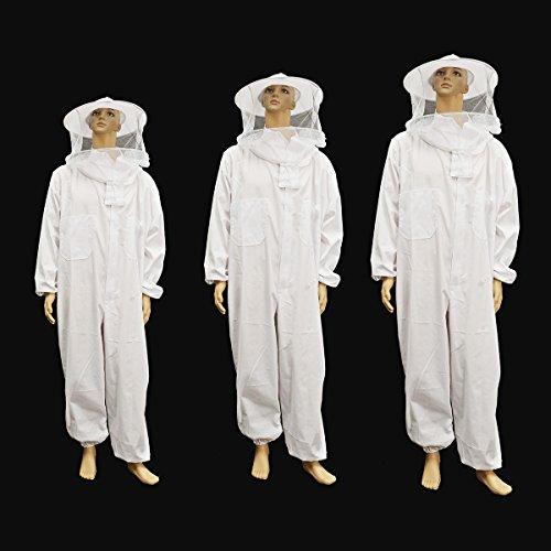 TuToy Imkerei Schutzausrüstung Jacke Veil Full Body Suit Hut Smock Beekeeping Tools Set - Xl